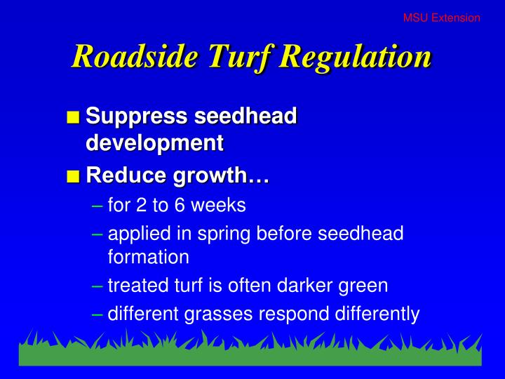 Roadside Turf Regulation