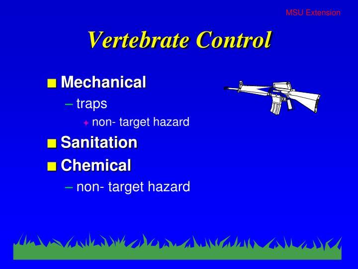 Vertebrate Control