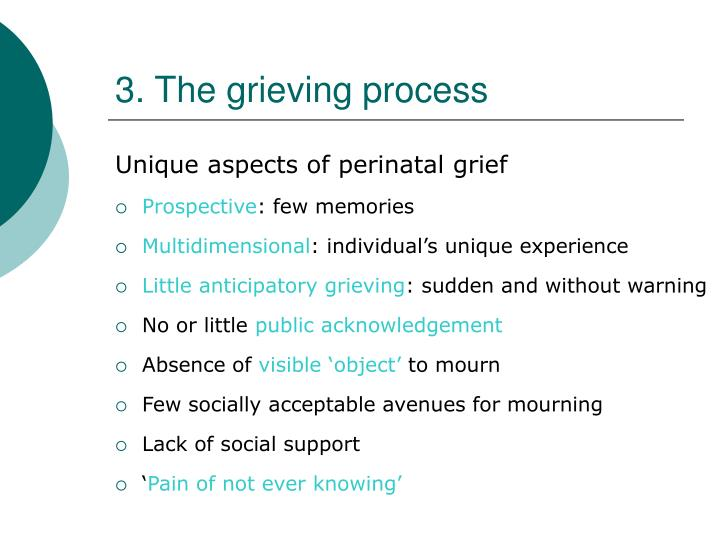 3. The grieving process