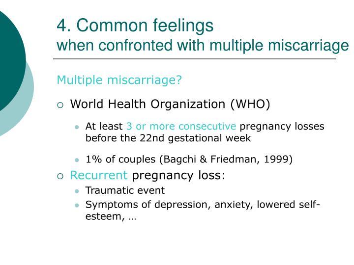 4. Common feelings