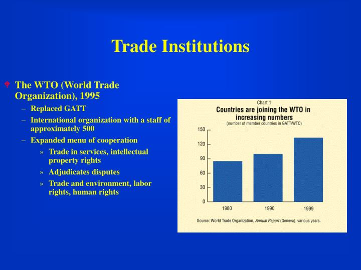 The WTO (World Trade Organization), 1995