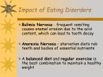 impact of eating disorders