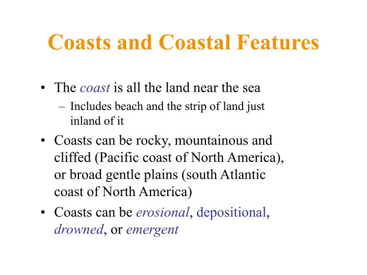 Coasts and Coastal Features