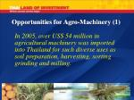 opportunities for agro machinery 1