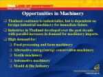 opportunities in machinery
