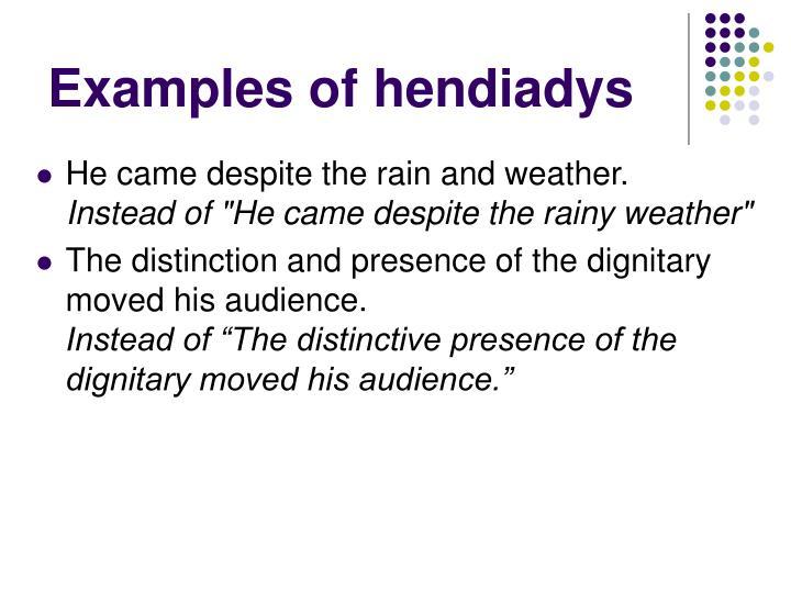 Examples of hendiadys