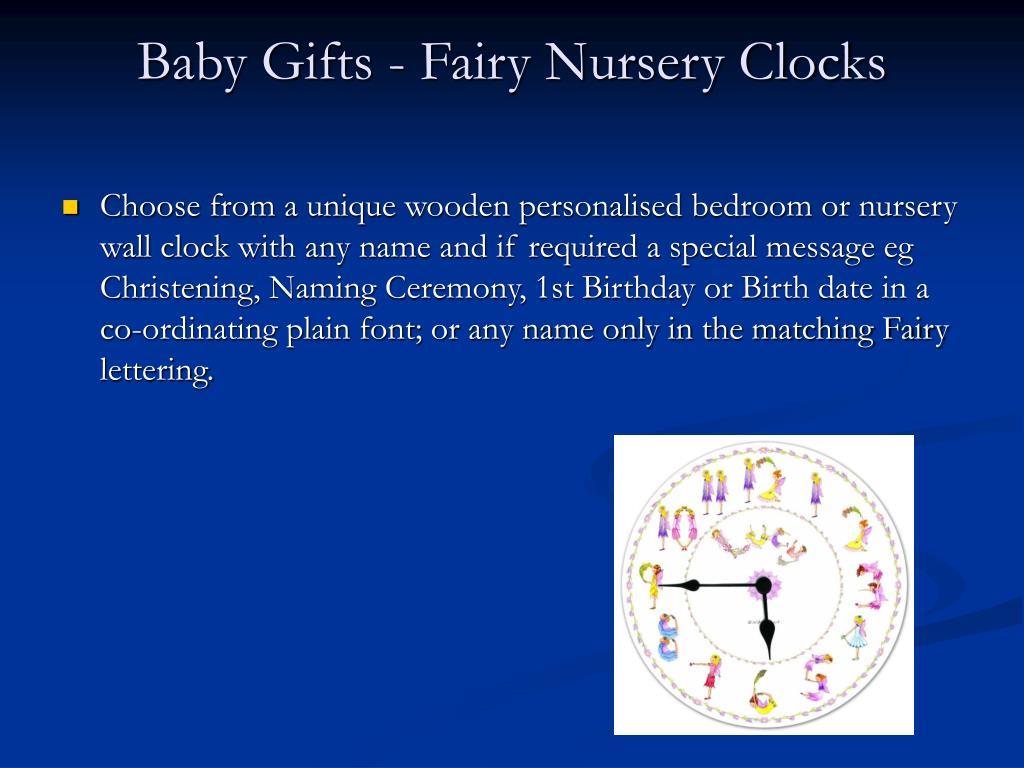 Baby Gifts - Fairy Nursery Clocks