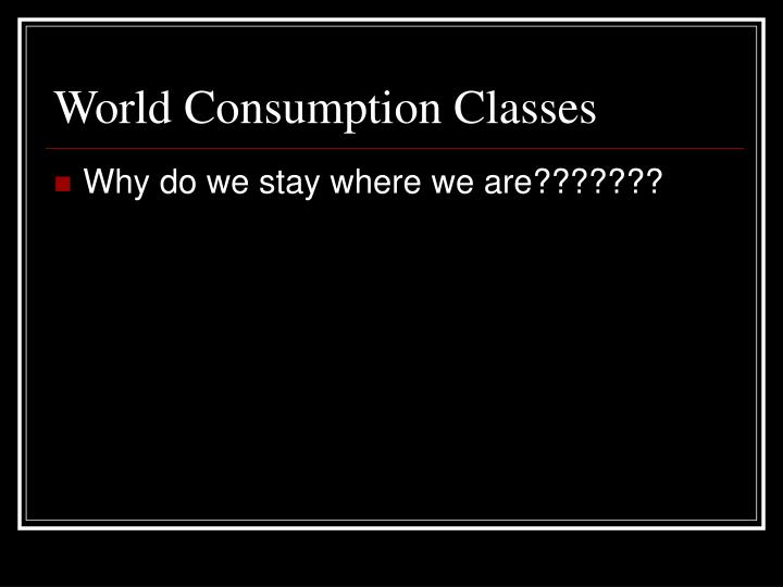 World Consumption Classes
