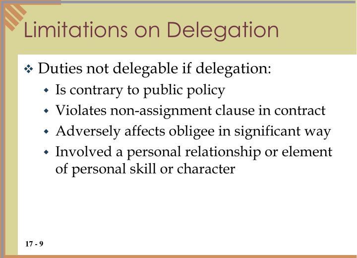 Limitations on Delegation