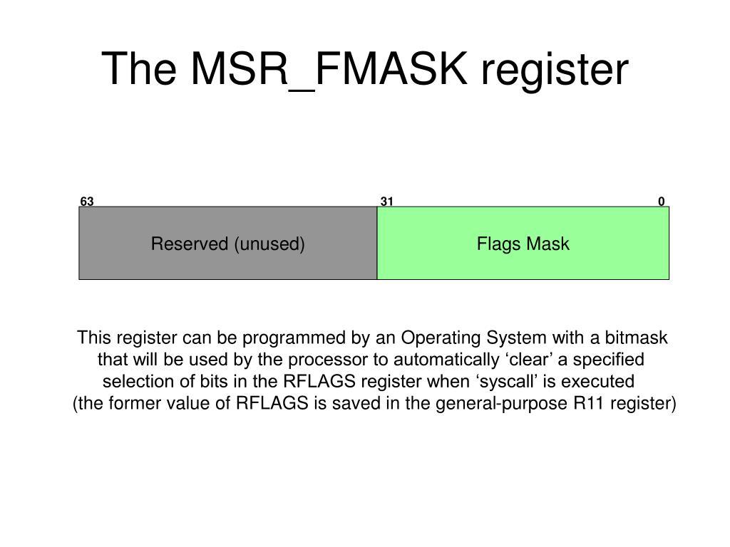 The MSR_FMASK register