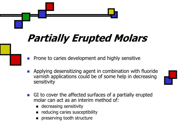 Partially Erupted Molars