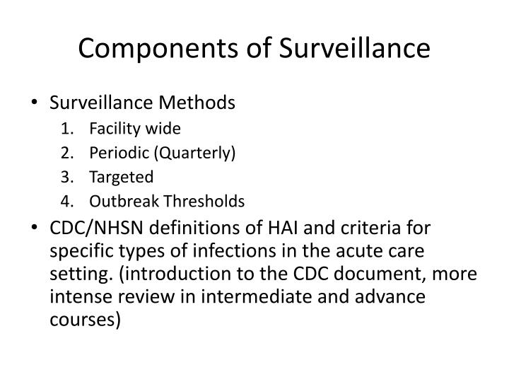Components of Surveillance