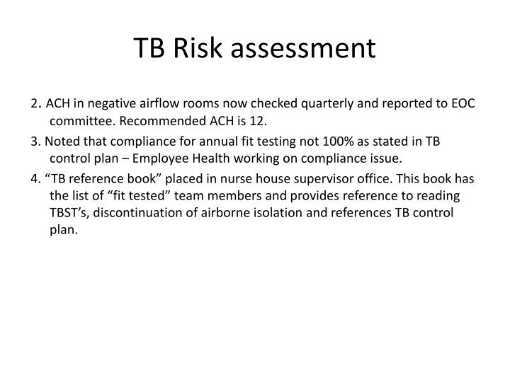 TB Risk assessment