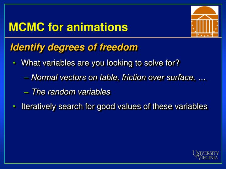 MCMC for animations