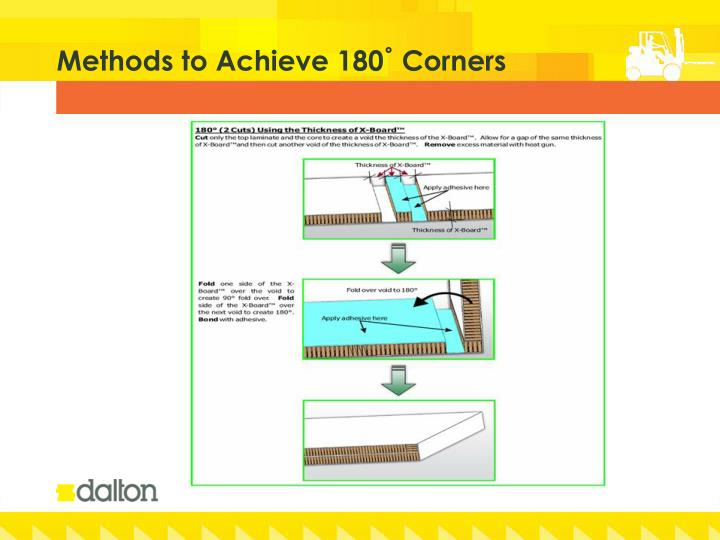 Methods to Achieve 180˚ Corners