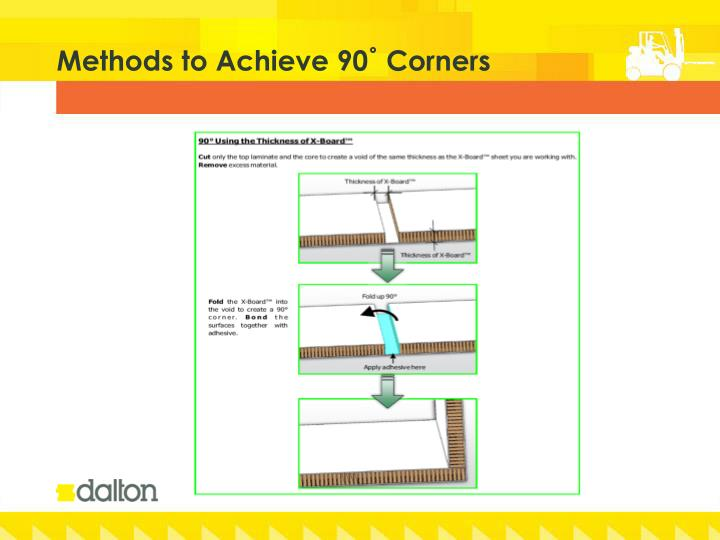 Methods to Achieve 90˚ Corners