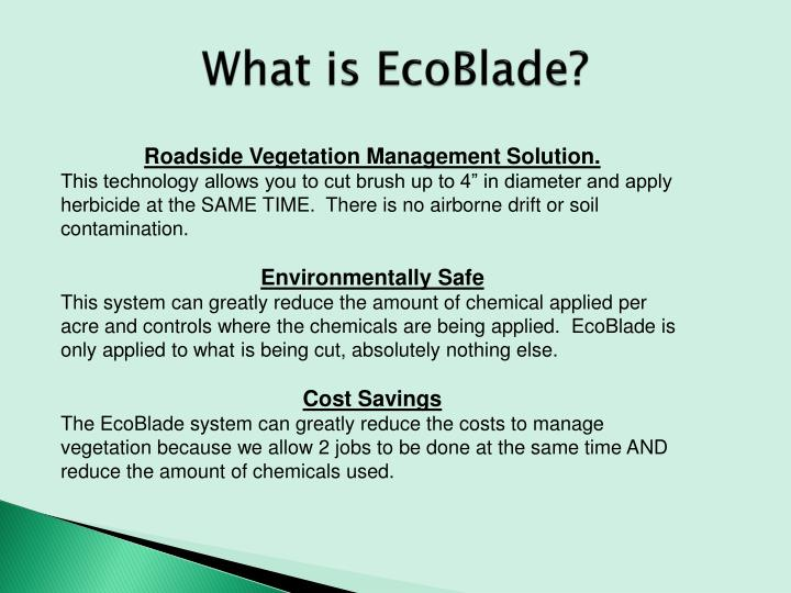 What is EcoBlade?