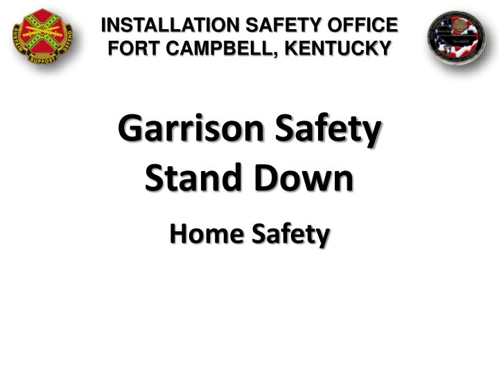INSTALLATION SAFETY