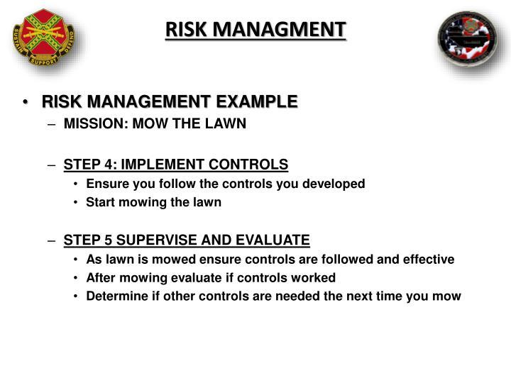RISK MANAGMENT
