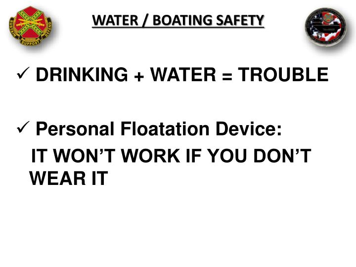 Water / Boating Safety