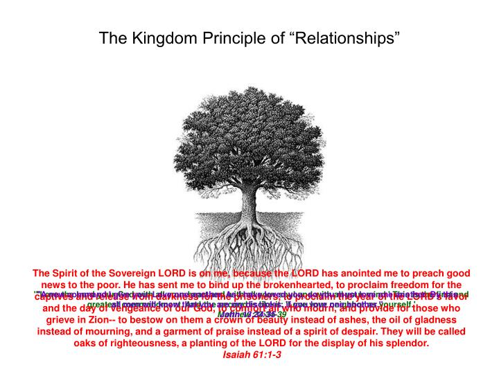 "The Kingdom Principle of ""Relationships"""