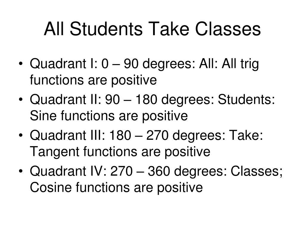 All Students Take Classes