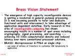 brass vision statement