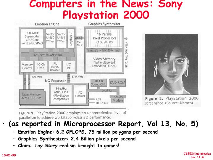 Computers in the News: Sony Playstation 2000