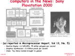 computers in the news sony playstation 2000