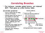 correlating branches1