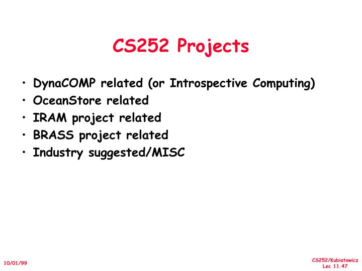 CS252 Projects
