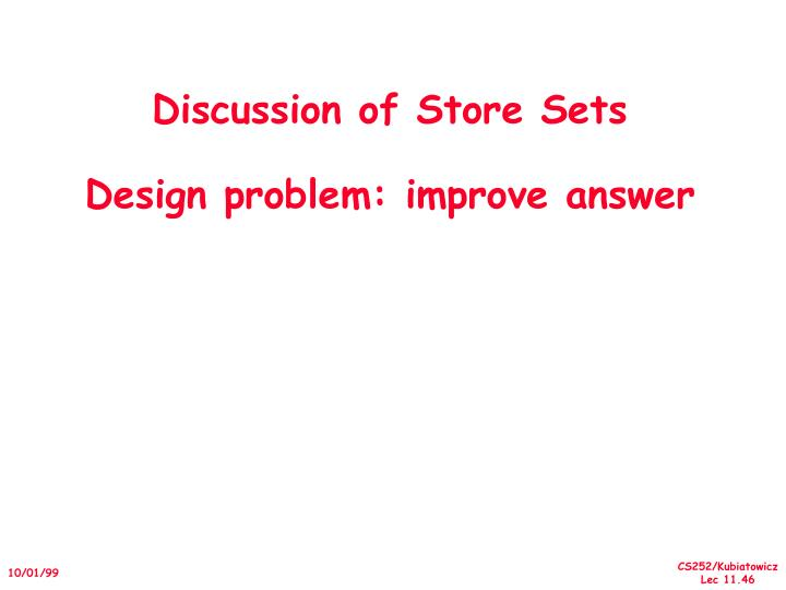 Discussion of Store Sets