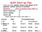 dlxv start up time