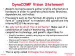 dynacomp vision statement