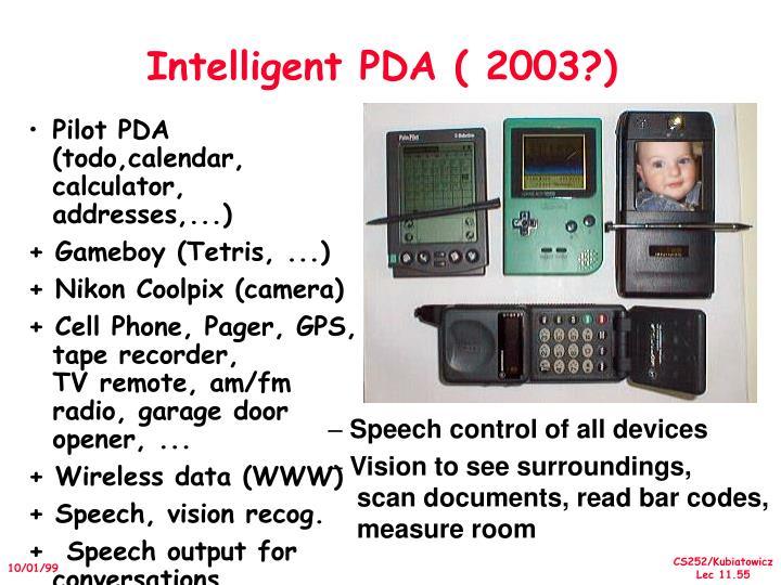 Intelligent PDA ( 2003?)