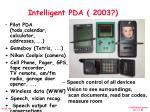 intelligent pda 2003