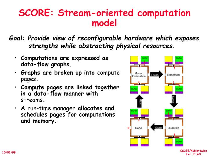 SCORE: Stream-oriented computation model