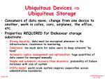 ubiquitous devices ubiquitous storage