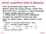 vector load store units memories