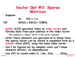 vector opt 3 sparse matrices