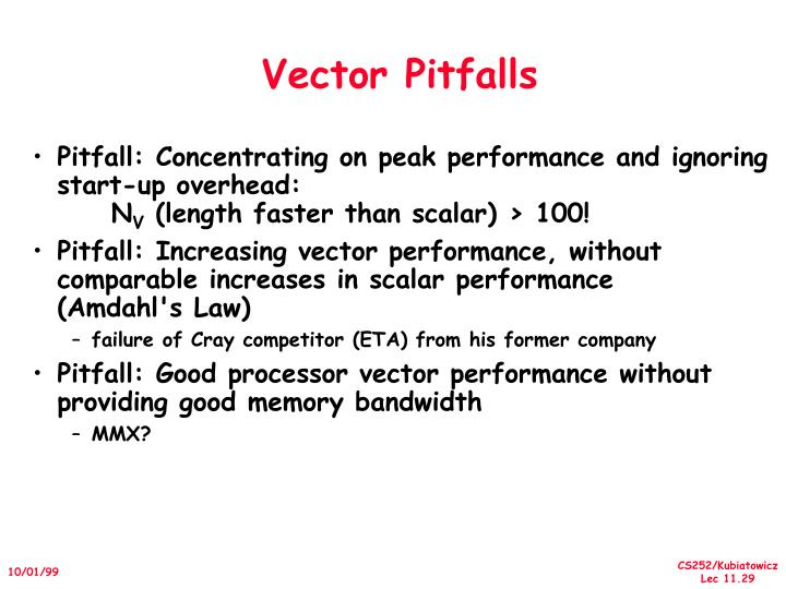 Vector Pitfalls