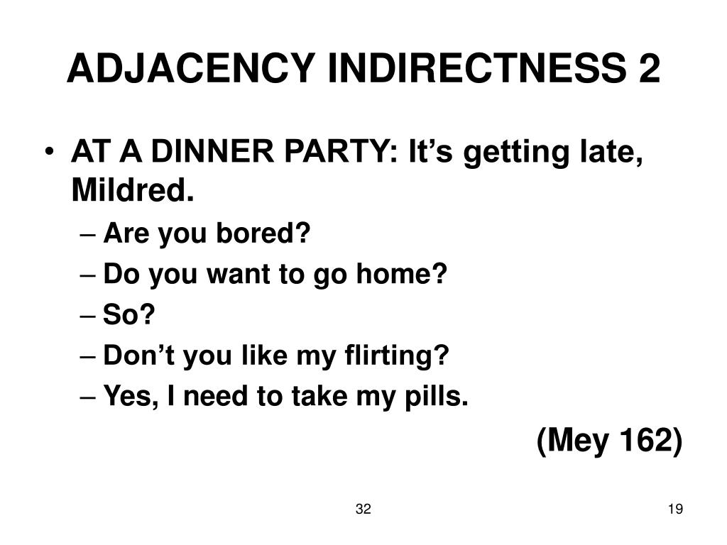 ADJACENCY INDIRECTNESS 2
