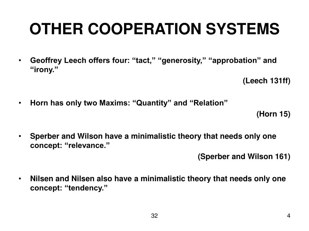 OTHER COOPERATION SYSTEMS