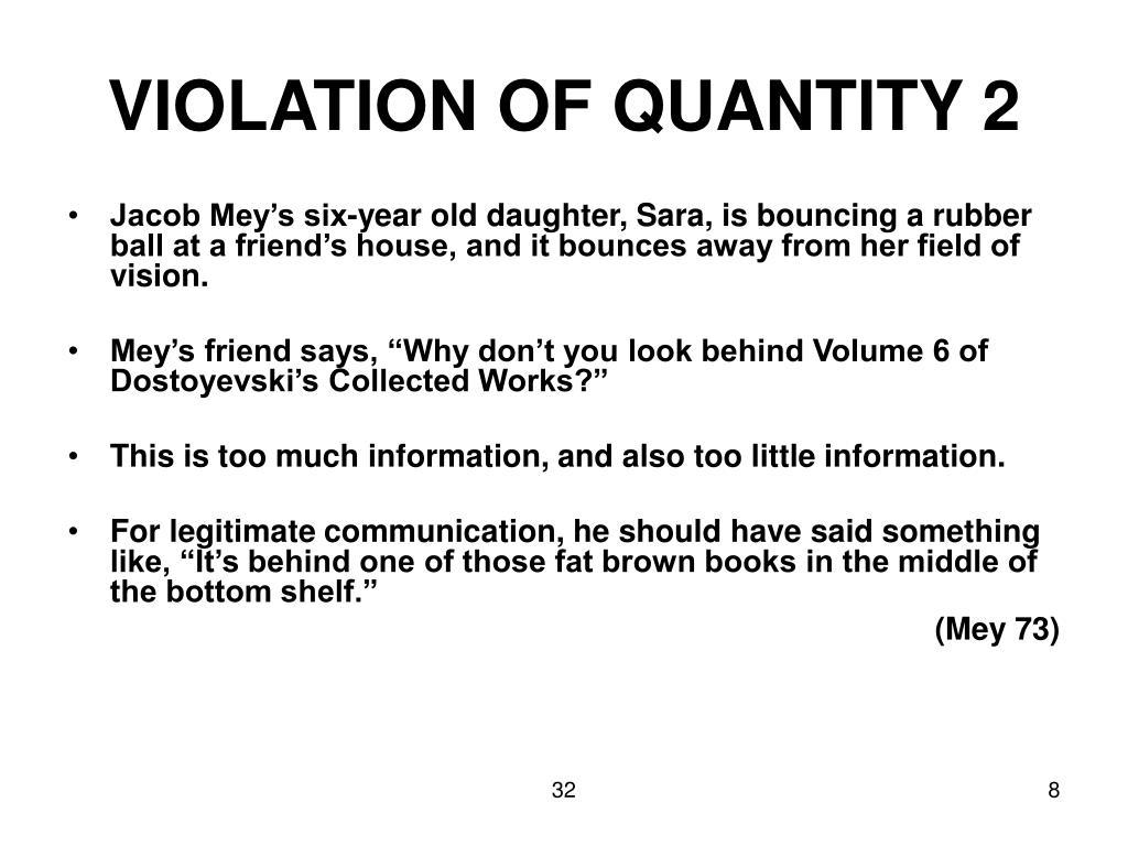 VIOLATION OF QUANTITY 2