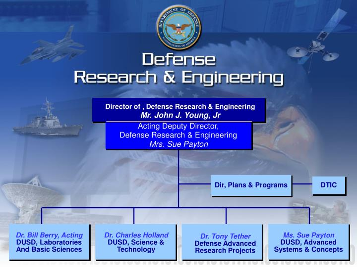 Acting deputy director defense research engineering mrs sue payton