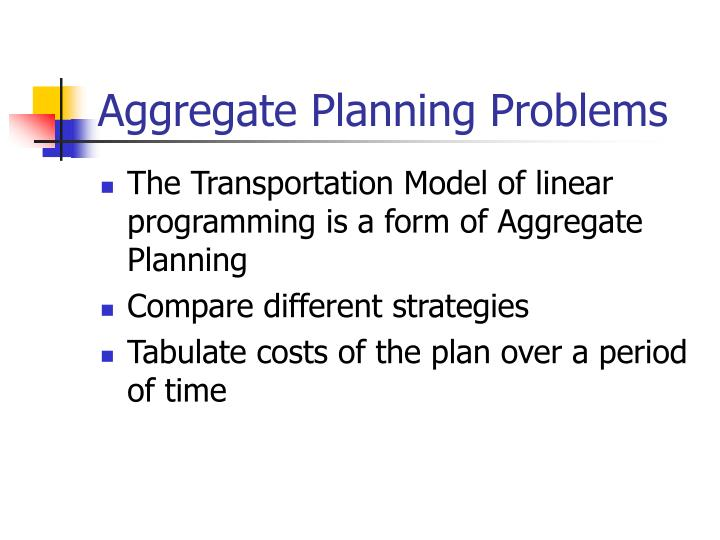 Aggregate Planning Problems