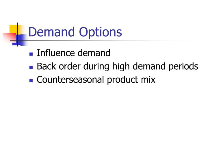 Demand Options