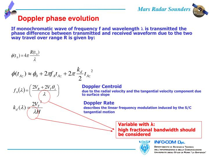 Doppler phase evolution