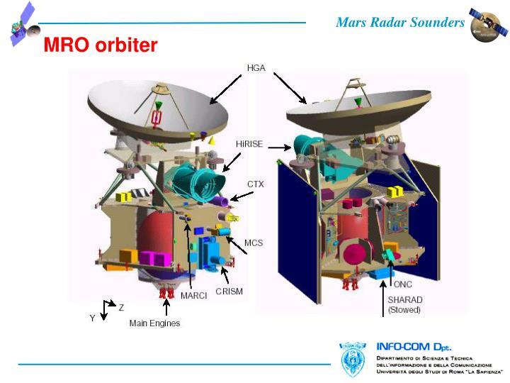 MRO orbiter