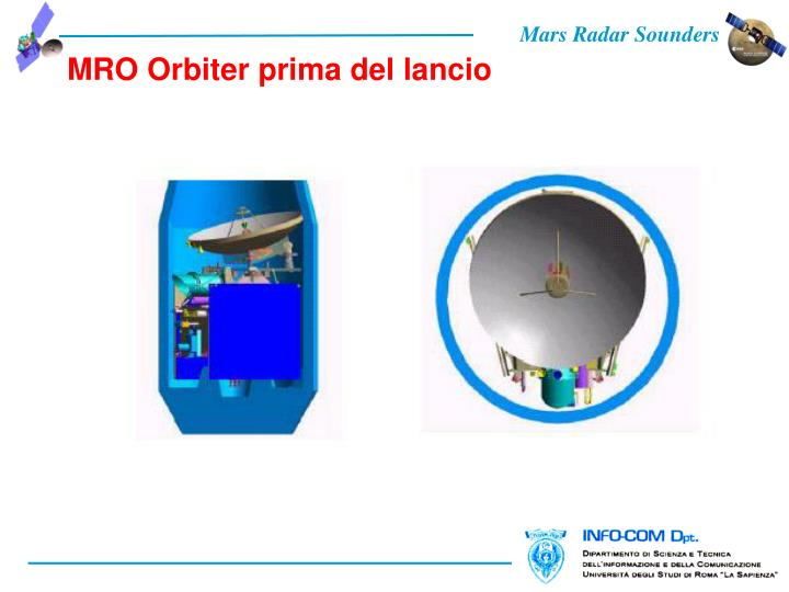 MRO Orbiter prima del lancio